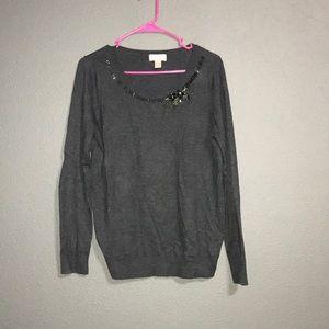 🌸Ann Taylor Loft Embellished Sweater
